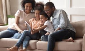 Happy family in Ithaca, NY
