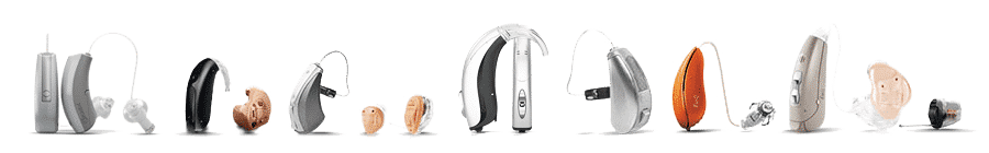 Hearing aid line up at The Hearing Aid Consultant